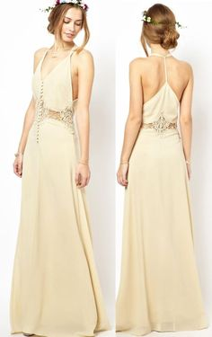 Boho Prom Dresses, long Prom dress, you be the star of your own prom by offering you hundreds of options for your perfect 2020 prom dress! 2016 Wedding Dresses, Boho Wedding Dress, Boho Dress, Dress Up, Dresses 2016, Yellow Wedding Dress, Ball Dresses, Evening Dresses, Formal Dresses