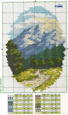 mountain path cross stitch