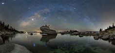 Winter Reflections - Hi, my name is Justin and I'm an astro photography addict. For real though I love the stillness and the quiet of night. I've never seen bonsai rock with the winter Milky Way bow over top of it. I managed to capture a lot of heavenly bodies in this shot. On the high res image you can see the Andromeda Galaxy, Jupiter, Sirius, Betelgeuse, the Pleiades and even comet love joy. The reflections on the water really help set the mood and feel of this image. I hope you enjoy…