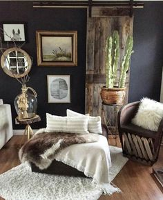 Pin by natia b. on room & board love in 2019 интерьер. Blue And Green, Home Decor Bedroom, Bedroom Rustic, Home Decor Styles, Bohemian Decor, Decoration, Rustic Decor, Sweet Home, Lounge