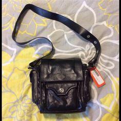 NWT Harley Davidson Black Leather Shoulder Bag Harley Davidson black leather shoulder bag.  Excellent condition, adjustable strap.  Inside zippered pocket, snap and magnetic closures. Harley Davidson Bags