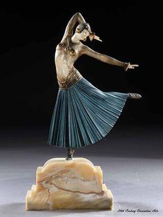 """An Art Deco sculpture """"Ayouta"""" by Démétre Chiparus, France circa 1925."""