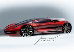 Ferrari Concept - Design Sketch by Vadim Artemiev