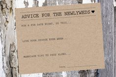A set of 50 Advice Cards by SouthernCards. #weddingstationery #advicecards