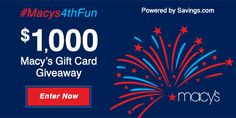 Watch Macy's 4th of July fireworks on Independence Day. To celebrate the day, Macy's offering a great deal. Also enter giveaway to win their gift cards.