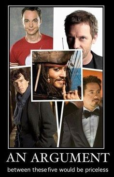 It would as epic as Monty Python's argument clinic skit!!!! They need to do this!!!! Pass it on.  #epic #fandom