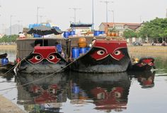 Tại sao lại vẽ mắt cho tàu thuyền ?