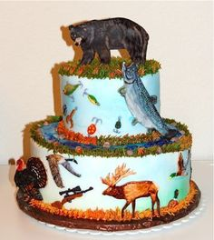 decorated cake bear fish - Google Search