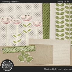 Modern Girl  - Digital Scrapbooking Freebie