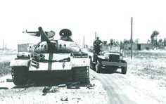 Syrian T-54A main battle tank abandoned on Golan Heights after Six Day War, June 1967