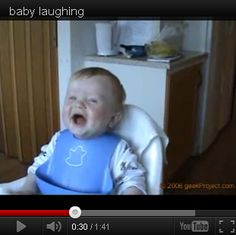 What funnier than a laughing #baby... http://babies411.com/baby-and-parenting-videos/funny-baby-videos/baby-laughing.html