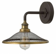 Hinkley Lighting 4360 1 Light Wall Sconce from the Rigby Collection Buckeye Bronze Indoor Lighting Wall Sconces