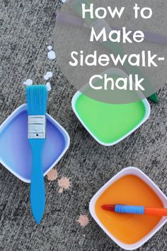 Such a great tutorial! How to make sidewalk chalk for kids