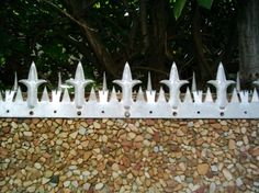 Wall Spikes For Vibracrete Walls Perimeter Security, Grill Design, Fence Design, Diy Pest Control, House Trim, Home Security Tips, Outside Decorations, Home Repair, Windows And Doors