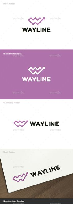 Way Line Letter W Logo - Letters Logo Templates NS: Great Colour and stroke+font-weight-matching, good continuity