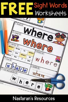 Free Sight Word practice pages.These printable Worksheets are great for kindergarten and first grade! Free Printable Sight Words Worksheets are designed to cover all topics in Sight Words. These worksheets help your students practice more in sight words. Preschool Sight Words, Teaching Sight Words, Sight Word Practice, Sight Word Games, Sight Word Activities, Sight Word Readers, Kindergarten Lesson Plans, Kindergarten Activities, Kindergarten Sight Word Worksheets
