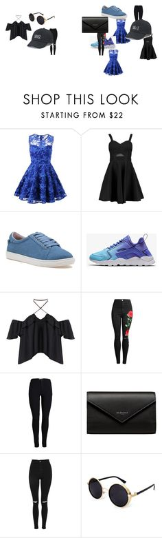 """""""cute"""" by igotmoney306 ❤ liked on Polyvore featuring Boohoo, J/Slides, Balenciaga, Topshop and SO"""