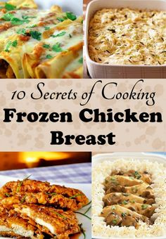If you're not cooking with frozen chicken breasts, you're missing out on some frugalicious and fast dinners! They're a busy mom's secret to quick and easy dinners. chicken dinner How to Cook Frozen Chicken Breasts in a Crock Pot Baking Frozen Chicken, Frozen Chicken Recipes, Crockpot Frozen Chicken, Cooker Recipes, Crockpot Recipes, Kid Recipes, Fast Dinners, Crock Pot Cooking, Skinny Recipes