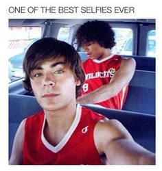 27818fc4d24 Zav Efron (Troy) on the set of High School Musical. He is the maker of  selfies