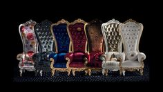This regal armchair by Italian furniture company Caspani will make you feel like a king or queen in your castle. The Throne armchair boasts an extra-high Royal Furniture, Italian Furniture, Classic Furniture, Vintage Furniture, Furniture Decor, Baroque Furniture, Funky Furniture, Furniture Projects, Furniture Makeover