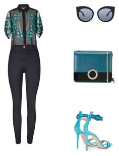 """""""Private jet airport in Los Angeles."""" by cmmpany ❤ liked on Polyvore featuring Elie Saab, WithChic, Gianvito Rossi, Bulgari and Quay"""