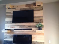 TV unit---stained wood tv unit with fireplace and speaker built it. Custom lighting and shelves. All for $200