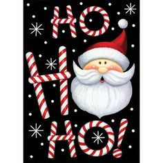 *** Unbelievable offers are coming!: Toland - Ho Ho Ho Santa - Decorative Double Sided Christmas Winter Holiday USA-Produced Garden Flag at Christmas Decorations. Christmas Rock, Christmas Signs, Outdoor Christmas, Christmas Balls, Christmas Pictures, Christmas Time, Christmas Wreaths, Christmas Crafts, Christmas Decorations