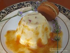 Plombières Ice Cream Recipe (candied fruit ice cream with apricot lavender sauce) @Jill Colonna