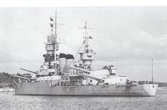 Italian battleship Andrea Doria was the lead ship of her class of battleships built by the Regia Marina Navy, launched on June 29, 1934.