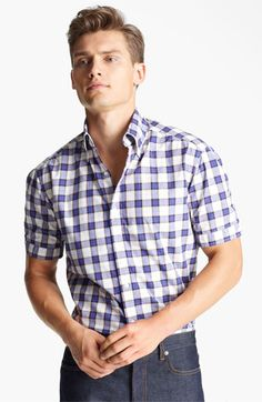 Michael Bastian Check Woven Shirt available at #Nordstrom
