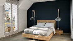 #Chambre contemporaine et minimaliste faite par notre décoratrice d'intérieur Eloïse.