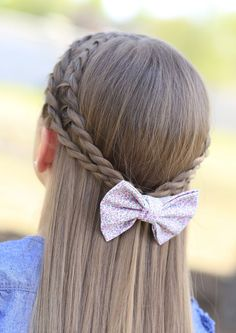 Rope Braid Tieback Hairstyle for Schoolgirls