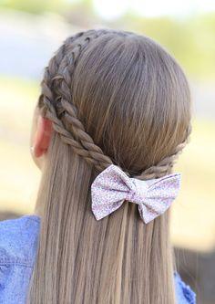 Rope Braid Tieback Hairstyle for Schoolgirls