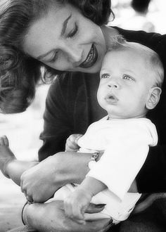 Lauren Bacall with son Stephen Bogart