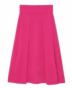 ChicNova Skirt Candy Color High Waist Pleated Long Skirt