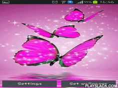 Pink Butterfly  Android App - playslack.com , Pink butterfly - pretty pink butterflies on the desktop of your smartphone or tablet PC. The app has starry components and is power saving.