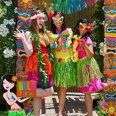 Hawaiian Hair Clips Party City