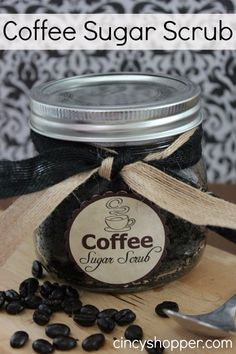 Repinning, because it is absolutely amazing. Fun diy gift with some used coffee grind, cinnoman, coconut oul and sugar.