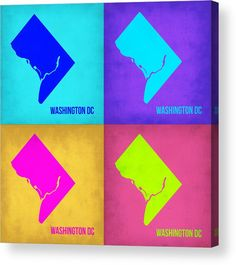 Washington Dc Map Acrylic Print featuring the painting Washington Dc Pop Art Map…