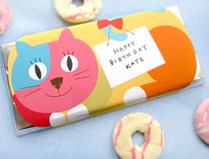 Free printable cat themed candy bar wrappers from Mr Printables Mr Printables, Printable Activities For Kids, Free Printable, Printable Party, Candy Bar Party, Origami, Candy Bar Wrappers, Cat Party, Making Ideas