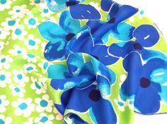 Vera Neumann Silk Scarf  Big Blue Flowers on by TheBirdcageVintage, $29.99 #vintage #etsy #veraneumann