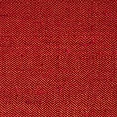 ANICHINI Fabrics | Changeant Spice Red Hand Loomed Silk - a red herringbone silk fabric