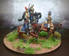 FRENCH HEAVY CAVALRY DIVISION GENERAL & ADCs Lead Soldiers, Toy Soldiers, Battle Of Waterloo, Military Modelling, Napoleonic Wars, Reference Images, Miniture Things, Legos, British