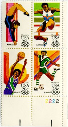olympic stamp    1983 Summer Olympics issue.