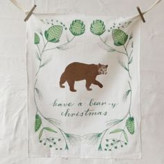Bear-y Christmas Tea Towel