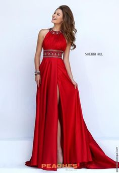 Halter Top A Line Sherri Hill Dress 11318