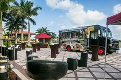 """GA National Resort & Spa debuts its own gourmet iTRUCK, offering tasty highlights from its on-site restaurants including BBQ pork sliders, """"Birdie Shrimp,"""" truffle fries, """"PGA Signature Champ Burger,"""" crab fritters, meatball sliders, lobster sliders, """"Mojo Fish Tacos,"""" """"91 Chicken Quesadilla,"""" buffalo bites, and shrimp grits."""