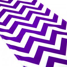 Chevron Table Runner - Royal Purple