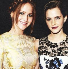 Jennifer Lawrence and Emma Watson, maybe the best picture of two of the best people ever