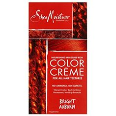 SheaMoisture BRIGHT AUBURN Nourishing Hair Color Crème for All Hair Textures ** Continue to the product at the image link. (This is an affiliate link and I receive a commission for the sales)